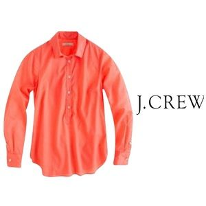 J crew Coral Indian Voile Popover Tunic